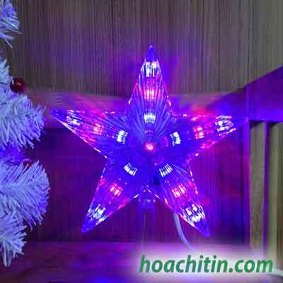 Sao Đỉnh LED 23cm ( phù hợp cho Cây Thông từ 1m5- 2m1)