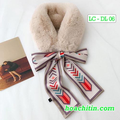 Khăn Choàng Cổ Lông Dây Lụa DL 06