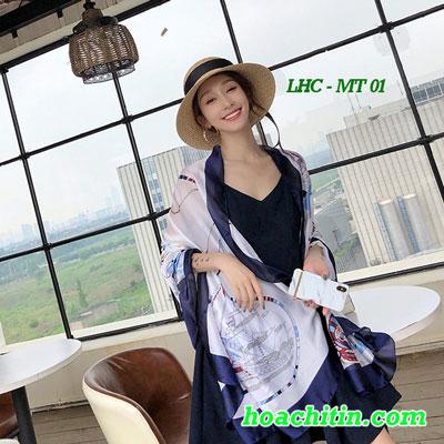 Khăn Choàng Lụa Hàng Châu Mẫu Thuyền MT 01
