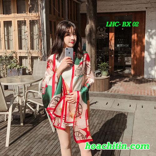 Khăn Choàng Lụa Hàng Châu Bánh Xe BX 02
