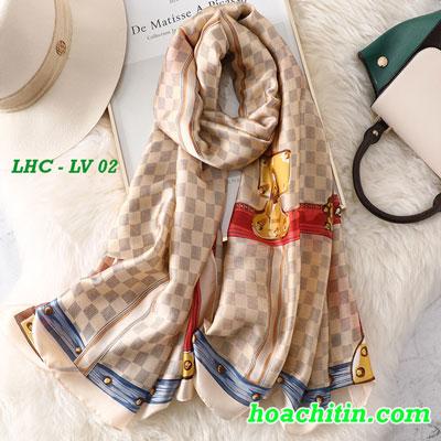 Khăn Choàng Lụa Hàng Châu Louis Vuitton LV 02