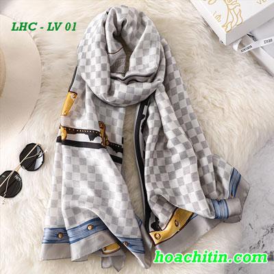 Khăn Choàng Lụa Hàng Châu Louis Vuitton LV 01
