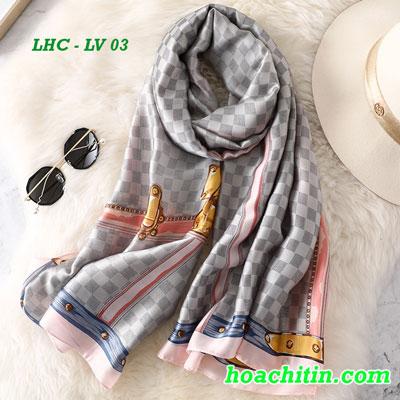 Khăn Choàng Lụa Hàng Châu Louis Vuitton LV 03