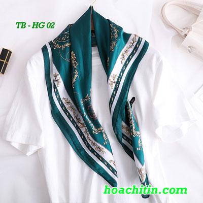 Khăn Turban Lụa Satin Vuông Hoàng Gia HG 02