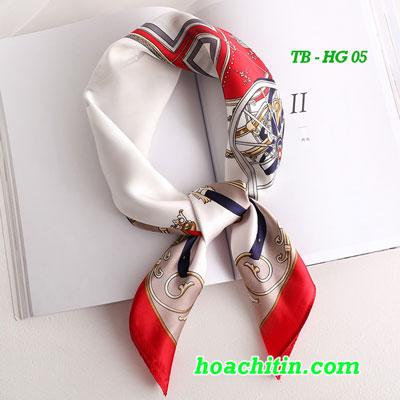 Khăn Turban Lụa Satin Vuông Hoàng Gia HG 05