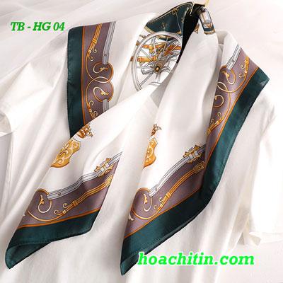 Khăn Turban Lụa Satin Vuông Hoàng Gia HG 04