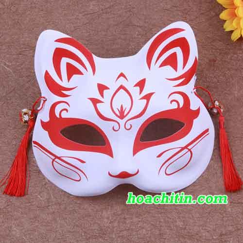 Mặt Nạ Mèo Cáo Đỏ Hoa Sen