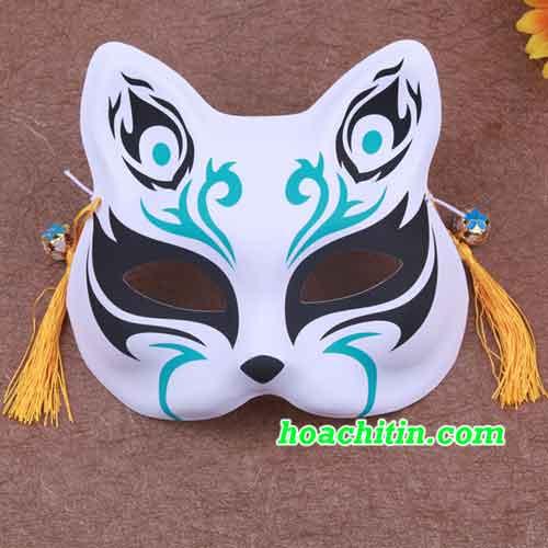 Mặt Nạ Mèo Cáo Đen Xanh
