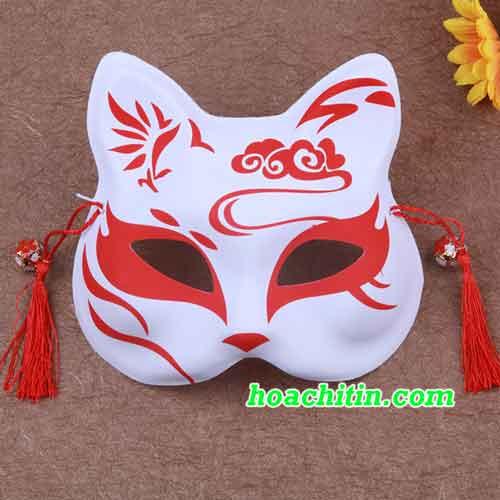 Mặt Nạ Mèo Cáo Đỏ Hoa Mây