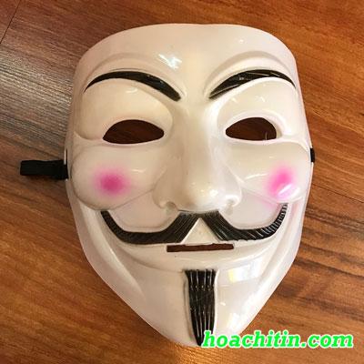 Mặt Nạ Hacker Trắng