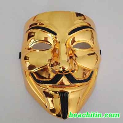 Mặt Nạ Hacker Vàng Bóng