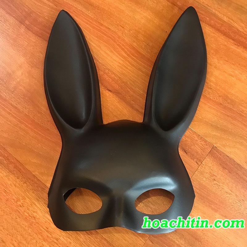 Mặt Nạ Thỏ Bunny Tai Dài Đen Nhám