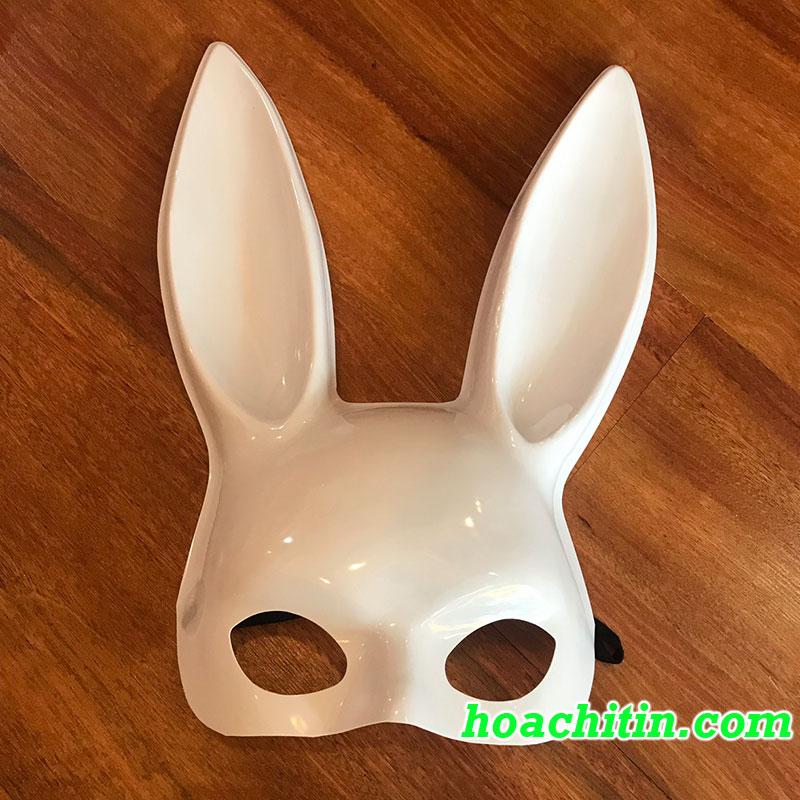 Mặt Nạ Thỏ Bunny Tai Dài Trắng Bóng