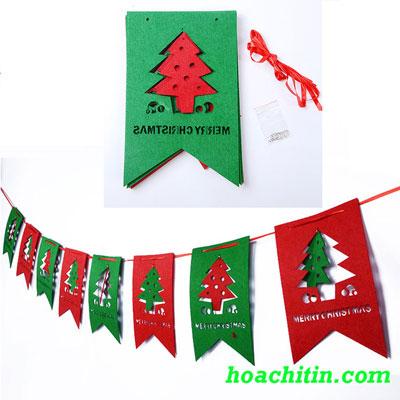 Dây Treo Lá Cờ Chữ Merry Christmas