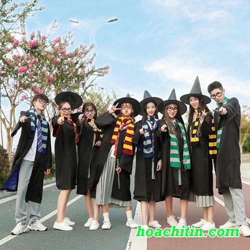 Trọn Bộ Áo Choàng Harry Potter 3 Size L Trên 1m5