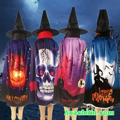 Áo Choàng In 3D Họa Tiết Halloween Size 80cm