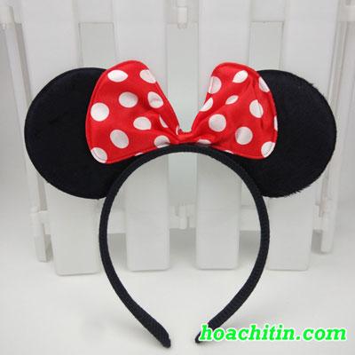 Cài Mickey Nơ Nhỏ Tông Đỏ