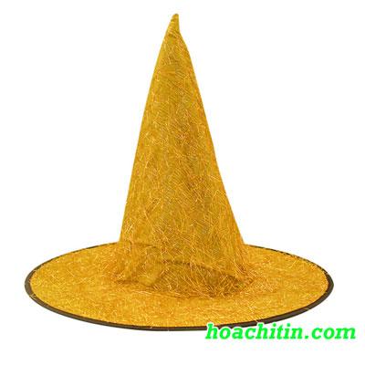 Nón Phù Thủy Kim Tuyến Vàng