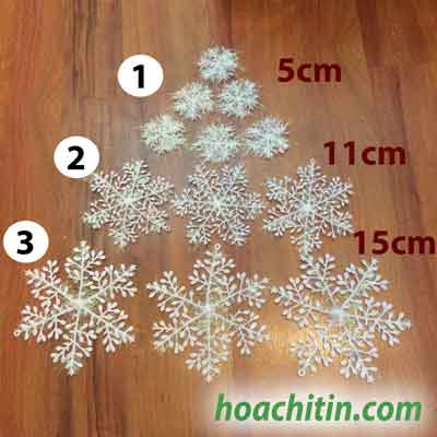 Bông Tuyết Nhựa Size 6cm ( Bao 3 cái)