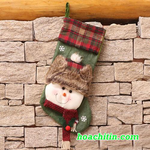 Bít Tất Treo Cây Hình Nguời Tuyết Size 50cm