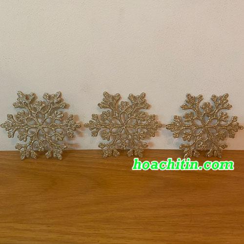 Bông Tuyết Kim Tuyến Vàng ( Bao 3 cái)