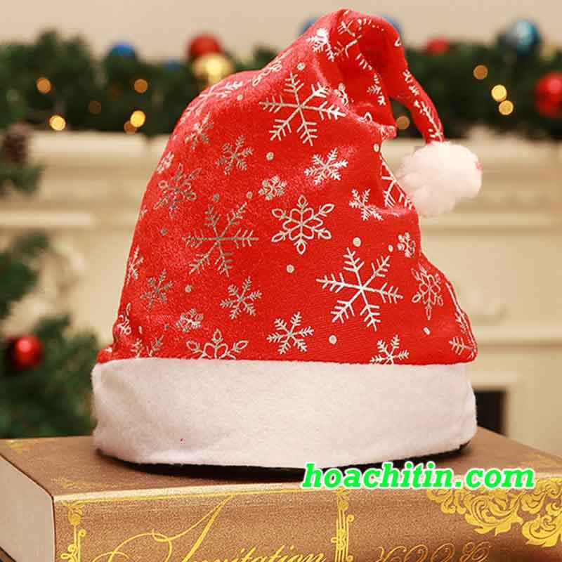 Nón Noel Nhũ Bạc
