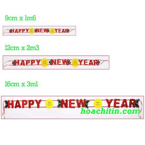 Dây Nhung Happy New Year Size 9cm x 1m6
