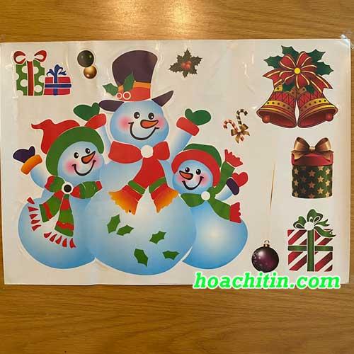 Decal Noel Người Tuyết 35cm x 50cm