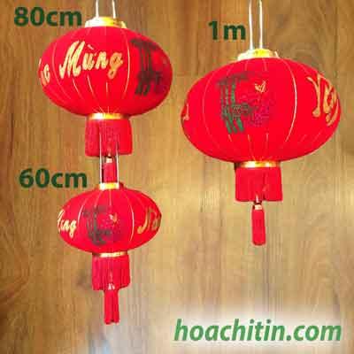 Lồng Đèn Nhung Chữ Việt Size 60cm
