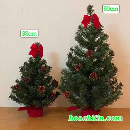 Cây Thông Noel Mini Gắn Trái ThôngSize 60cm