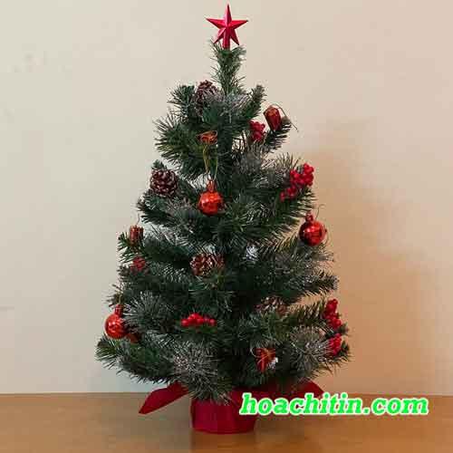 Cây Thông Noel Mini Dầy Trang Trí Sẵn Size 60cm