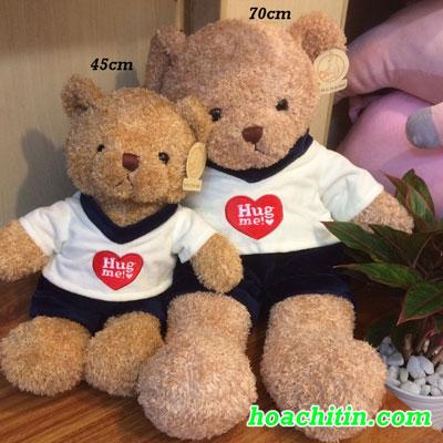 Thú Nhồi Bông Teddy Lông Chỉ Quần Nam Size 50cm