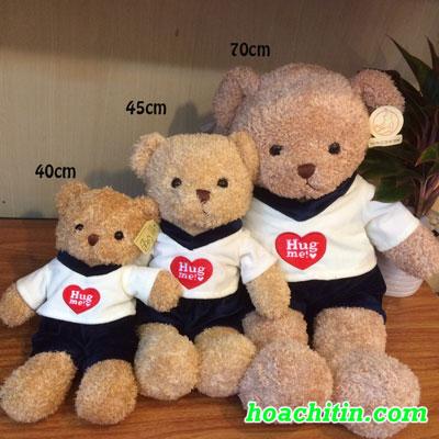 Thú Nhồi Bông Teddy Lông Chỉ Quần Nam Size 40cm