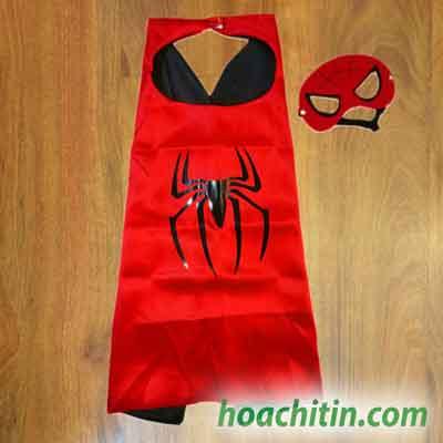 Áo Choàng Mặt Nạ Spider Man Người Nhện Size S