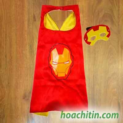 Áo Choàng Mặt Nạ Iron Man Người Sắt Size S