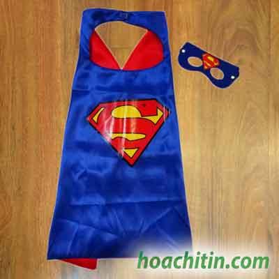 Áo Choàng Mặt Nạ Super Man Siêu Nhân Size S